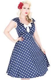 navy polka dot isabella dress lady vintage