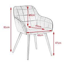 woltu esszimmerstuhl bh232dgr 1 1 stück küchenstuhl polsterstuhl wohnzimmerstuhl sessel mit armlehne sitzfläche aus samt gold beine aus metall