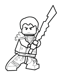 Ninja Ninjago Coloring Pages Lego Red