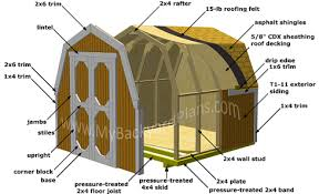8x8 gambrel shed plans small barn shed is built on skid
