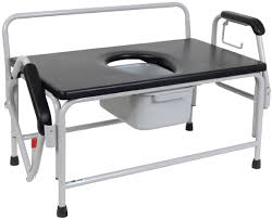 bariatric drop arm bedside commode seat drive medical
