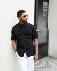 The Idle Man Black Shirt White Jeans Sunglasses