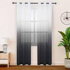 schwarz transparente gardinen vorhänge und weitere