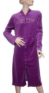 robe de chambre velours robe de chambre velours zip de nuit comme de jour