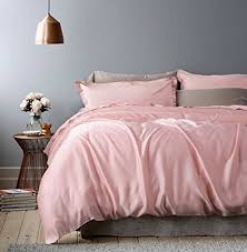 Amazon Rose Gold Duvet Cover Luxury Bedding Set High Thread