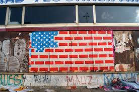 100 Urban Art Studio An Reinterpretation Of The American Flag In Berlin