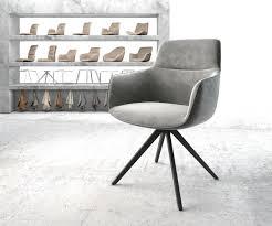 drehstuhl pejo flex kreuzgestell kantig schwarz samt grau