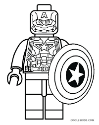 Captain Coloring Pages America Civil War Iron Man