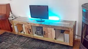 Rustic Design Living Room With Ikea Hack Tv Stand And Reclaimed