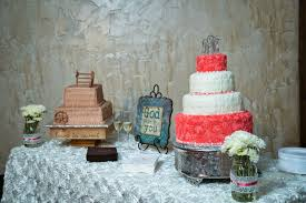 Libby Sanford Created A Beautiful White Almond Cake With Raspberry Filling For The Bride And Chocolate Groom
