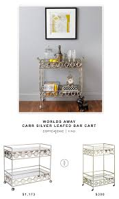 Pier One Sofa Table by Worlds Away Carr Silver Leafed Bar Cart Copycatchic