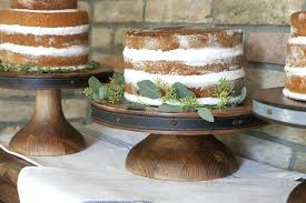 Wooden Cake Stand Heritage Wood Short More Views Rustic Stands For Sale