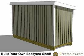 Free Plans How To Build A Wooden Shed by 6x16 Lean To Shed Plans