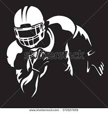 American Football Player Quarterback Isolated Stock Vector