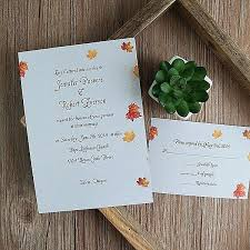 Cheap Country Wedding Invitations Maple Tree Fall Rustic Invites Canada