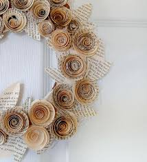 Wedding Ideas Recycled Wreath Old Newspapers Paper Diy Craft Idea Hochzeitsdeko