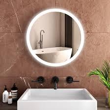 emke rund badspiegel led spiegel mit touch schalter badezimmerspiegel mit beleuchtung