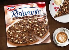 schoko pizza dr oetker was sagt italien dazu