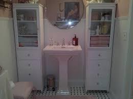Shabby Chic White Bathroom Vanity by Bathroom Cabinets Shabby Chic Interior Design