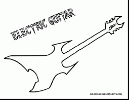 Great Guitar Coloring Pages With Page And Printable