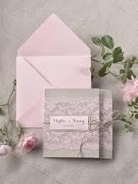 Custom Listing 100 Rustic Lace Invitations Pink Wedding Invitation Pocket Fold