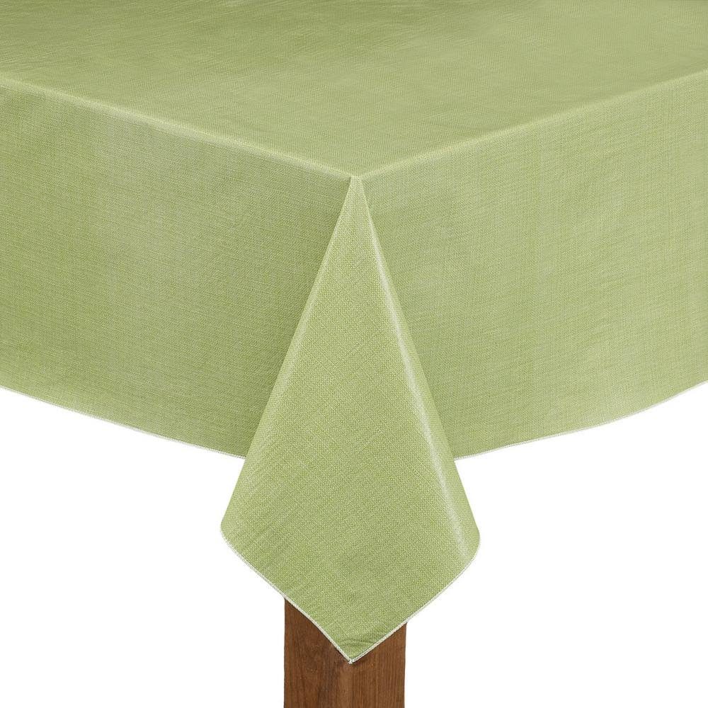 Cafe Deauville Vinyl Tablecloth 52x70 Rectangle Celery