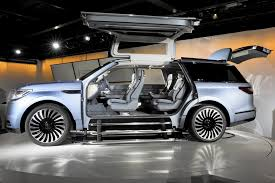 Lincoln Navigator Concept With Gullwing Doors Stuns Auto Show Crowd ... 2018 Lincoln Navigatortruck Of The Year Doesntlooklikeatruck Navigator Concept Shows Companys Bold New Future The Crittden Automotive Library Longwheelbase Yay Or Nay Fordtruckscom Its As Good Youve Heard Especially In Hennessey Top Speed 1998 Musser Bros Inc Car Shipping Rates Services Used 2003 Lincoln Navigator Parts Cars Trucks Midway U Pull Depreciation Appreciation 072014 Autotraderca Black Label Review Autoguidecom