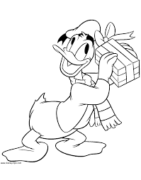 Donald Ducks Present Coloring Page