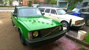 Meet Project Shop Truck -- A Bright Green Volvo 240 Pickup