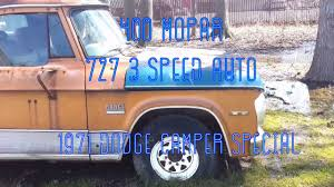 100 71 Dodge Truck 19 Restoration Part 1 YouTube