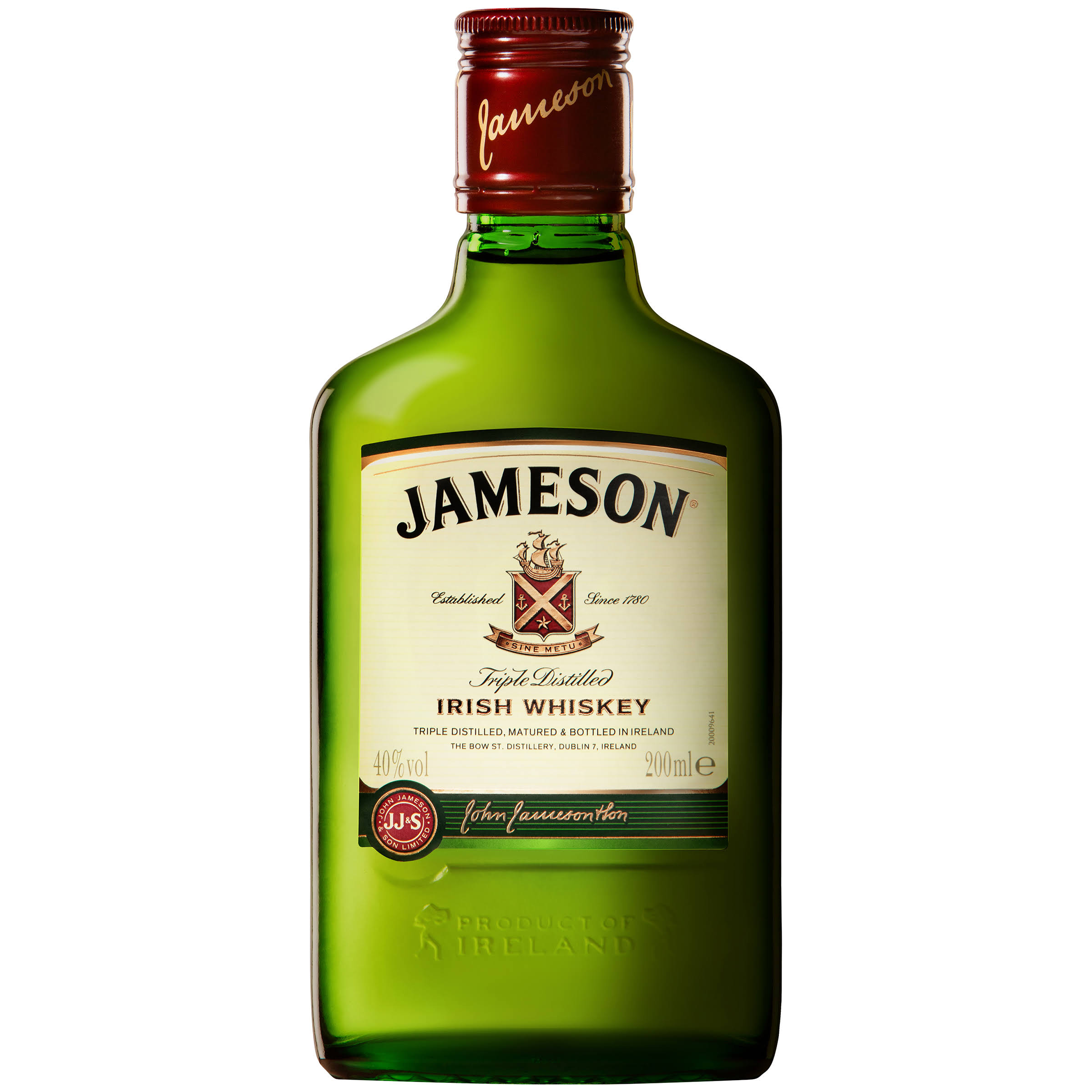Jameson Irish Whiskey Ireland 200ml Flask Bottle