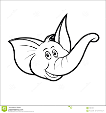 Holiday Coloring Pages Elephant Head Page Baby Vector Cute