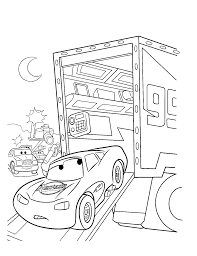 Cars Mcqueen The King Number86 Coloring Pages