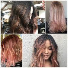 Roségold Balayage Haarfarben Für 2018 Balayage Haarfarben