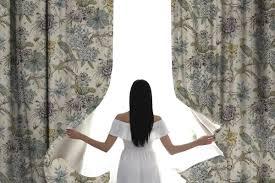 casa padrino luxus vorhang set blumen vögel hellbeige mehrfarbig 250 x h 290 cm bedruckte leinen samt vorhänge ösenvorhänge
