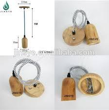 E26 E27 Hot Penjualan Handmade DIY Kayu Liontin Lampu Pend Cahaya