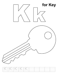 Key Alphabet Coloring Pages Free