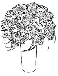 Roses Rose Bouquet For Wife Coloring Page PageFull Size
