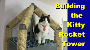how to build the kitty rocket tower cat tree youtube