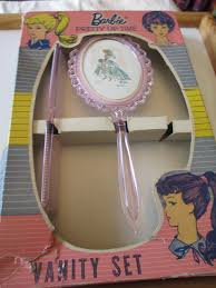Vintage Vanity Dresser Set by Vintage Barbie Dresser Vanity Set Brush Comb In Original Box Circa