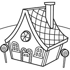 Delicious Christmas Gingerbread House On Eve Coloring Page