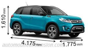 dimensions des voitures suzuki longueur x largeur x hauteur