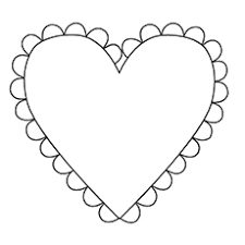 The Heart Shape Hunt For Shapes Coloring Pages
