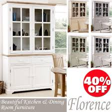 Florence Large DresserKitchen Diningroom Glass Display CabinetQualityASSEMBLE