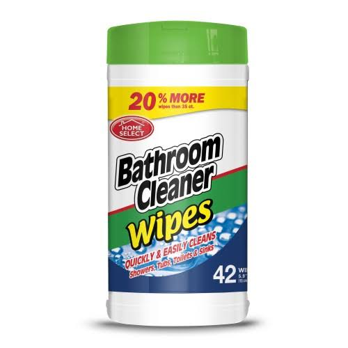 Home Select Bathroom Cleaner Wipes - 35 Count