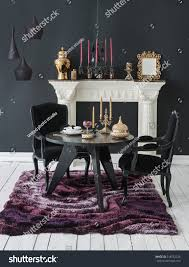 Luxury Interior Decor Black Wall Fireplace Stock Photo (Edit Now ... Vig Fniture Modrest Kingsley Modern Black Rose Gold Ding Chair Of America Duarte Iii Crocodile Textured Zuo Elio Set 2 Antique Sets Glass Tops Bases Chairs Frame Pedestal Vintage European And Round Table Beautiful Leopard Print 6 Room Wooden Best Of 25 With Legs Ideas Design 100 Transformed Reality Daydream Meridian Karina The Classy Home Inspirational 50 And Dcor Inspiration For New Years Eve Nage Designs Patings On Blue Wall Gold Clock In Modern Ding Room