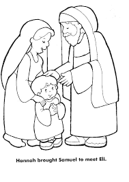 Hannah Samuel Colouring Pages