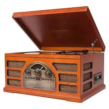 Magnavox Record Player Cabinet Value by Crosley Rochester 5 In 1 Entertainment Center Paprika Cr66d Pa