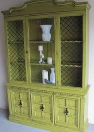 Shabby Chic Dining Room Hutch by Shabby Chic Cottage China Hutch Buffet Mint Green White Green