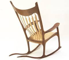 sam maloof rocking chair class sam maloof style sculpted rocking chair walnut curly maple